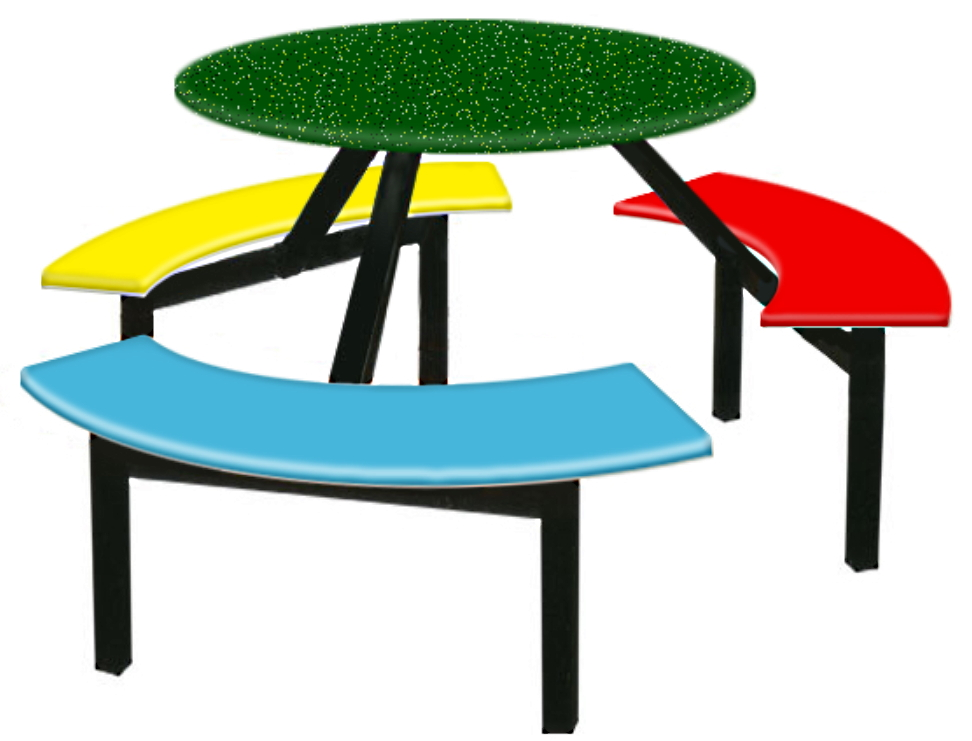 Fibreglass table and chairs